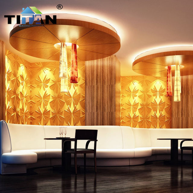 Home Decoration 3d PVC Wall Panel Wallpaper For Walls