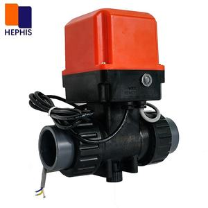 Hastelloy Stem Anti-Corrosion DN25 G1AC220V 3ways Electric Motorized Automatic Actuator Operated Gate 3 Way Plastic Ball Valve