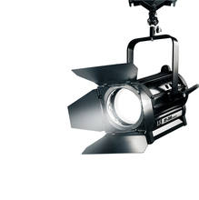High power black LED Fresnel Light for indoor studio and video with high CRI and barndoor