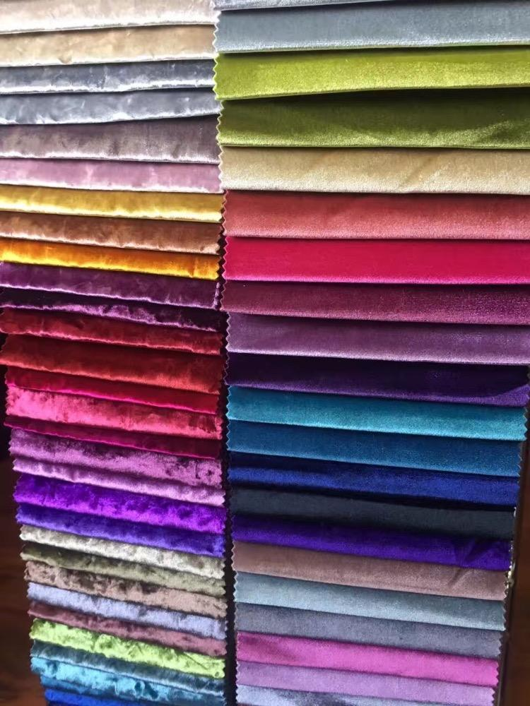 Many colors Korea velvet fabric for dresses and suit