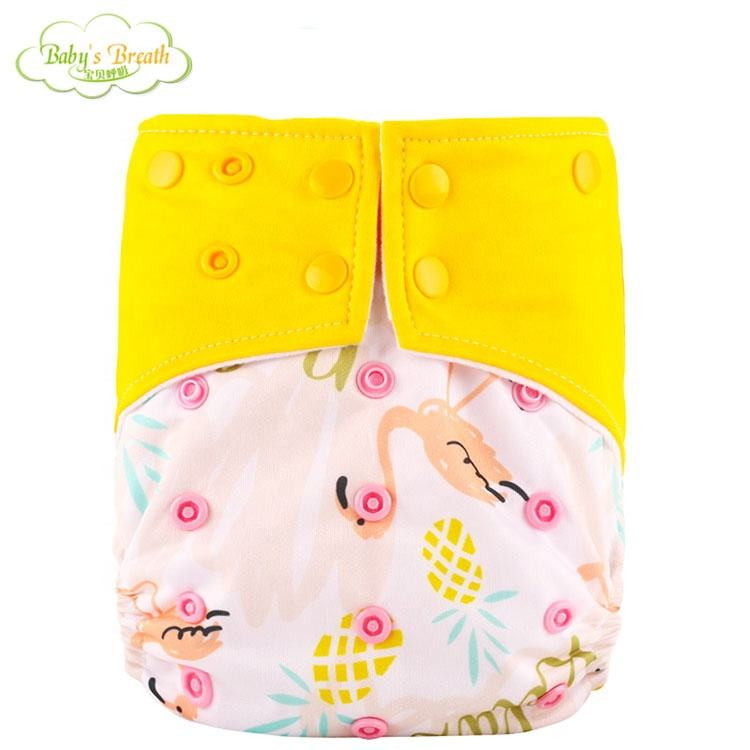 adjustable economic reusable cloth baby diaper suppliers newborn one size snap baby nappies