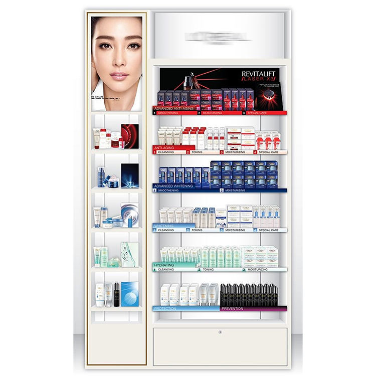 Wholesale Price Oem Accept New Promotion Cosmetic Retail Makeup Display Shelves Cabinet Wholesale In China