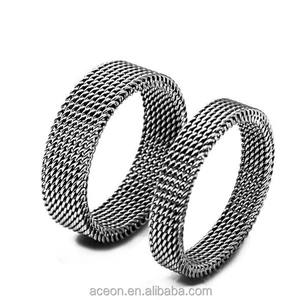 Yiwu Aceon Rvs Plain Cut Mesh Netto Band Elastische Ring