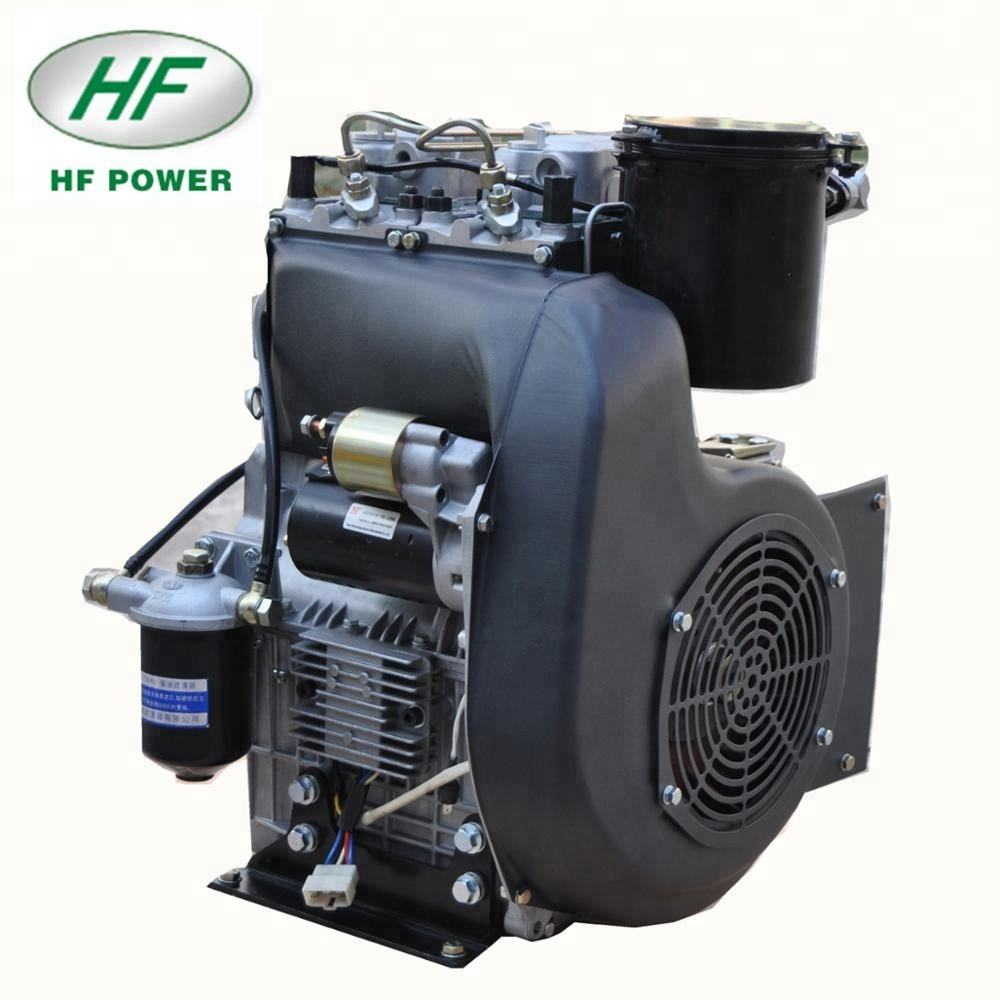 12LD477-2 20hp air-cooled 2-cylinder 18hp Small Diesel Engine HF-A20F LOMBADINI tech