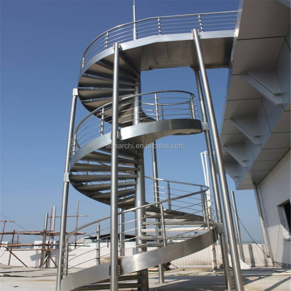 Outdoor Cheap Iron Spiral Staircase Metal Anti-Rust Steel Staircase