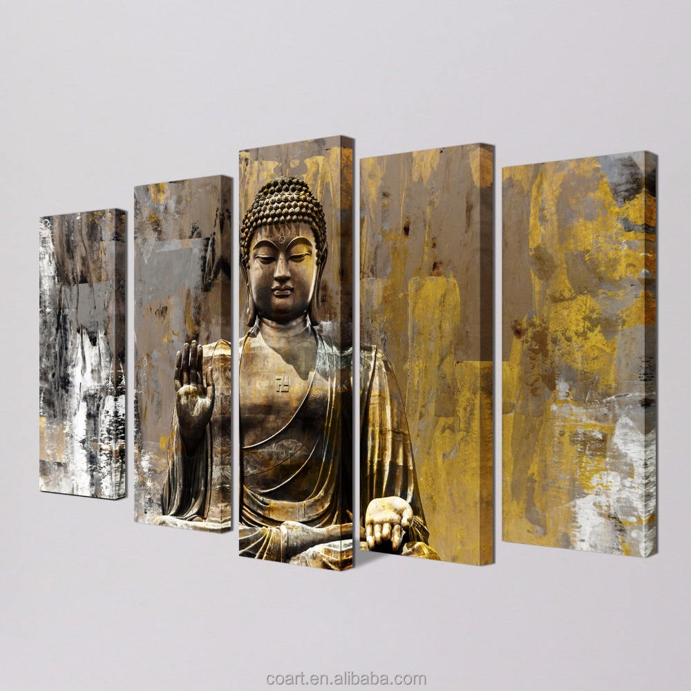 Modern Art Wall Decor Abstract Painting of Lord Buddha