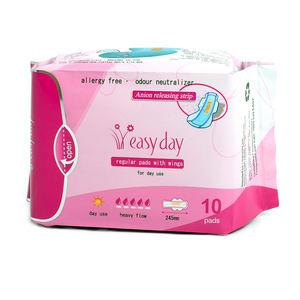 Soft Comfortable Anion girl breathable sanitary napkins sanitary pads wholesale