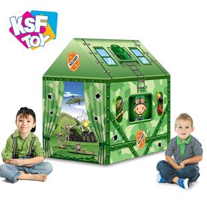 Pretend military sport haus zelt für kinder outdoor camping