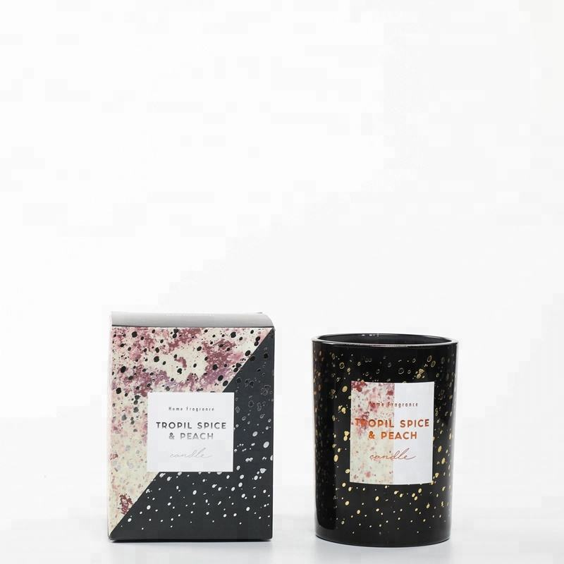 M&SENSE Galaxy Collection 8*10.5cm Luxury Personalized Glass Custom Luxury Scented Soy Candles