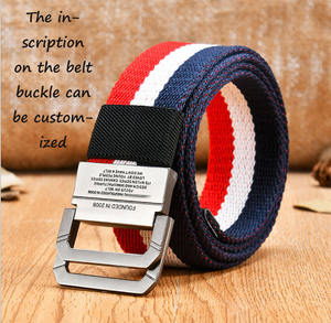 Factory direct quality quality OEM canvas mesh belt men's military style double ring buckle men's belt