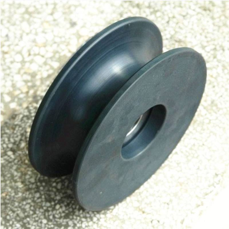 high resistance custom plastic nylon belt pulley U or V groove pulley