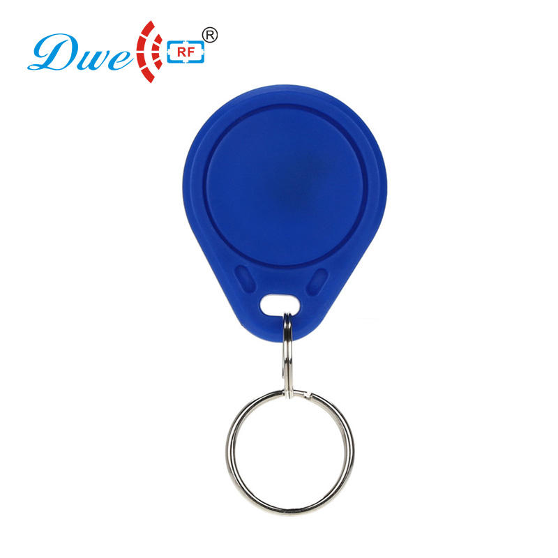 100pcs per bag Read only blue plastic proximity em4100 RFID key fob card key chain tag token fobs