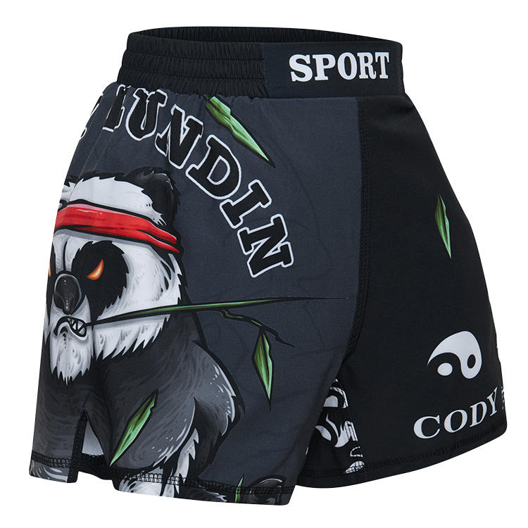 Cody Lundin Marvel Custom Made MMA Shorts Boys Gym Fight Shorts