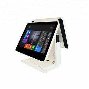 15.6 pollice dual touch screen pos sistema per ristorante retail pos macchina all in one