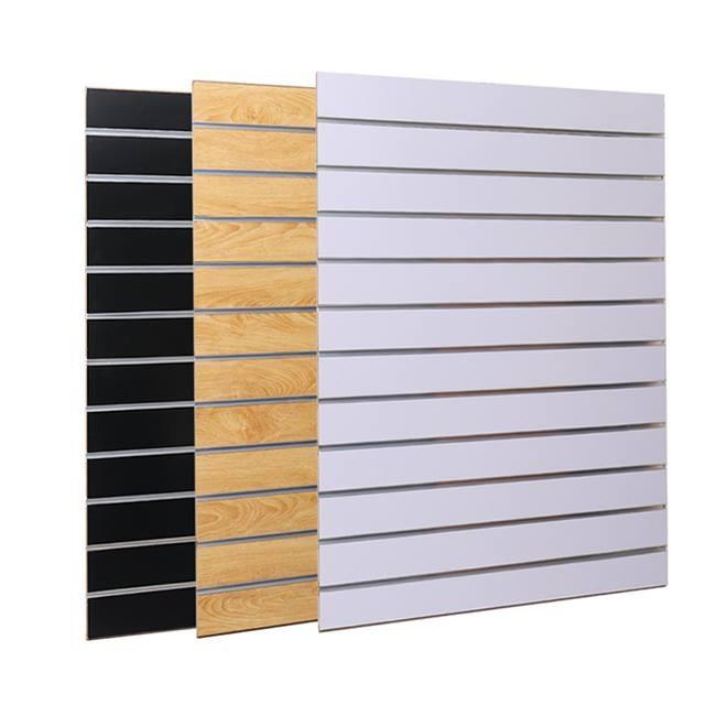 Slatwall slotted wood wall panels slotted board display 15mm 18mm
