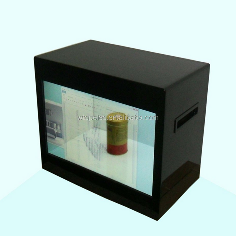 "10 ""12"" 13.3 ""15.6"" 18.5 ""21.5"" 27 ""32"" transparante LCD Video Showcase/LCD Transparante Display"