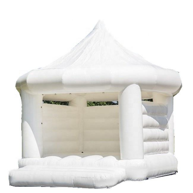 White inflatable wedding bouncer tent /inflatable jumping bouncy house/ inflatable jumping bouncy castle for party