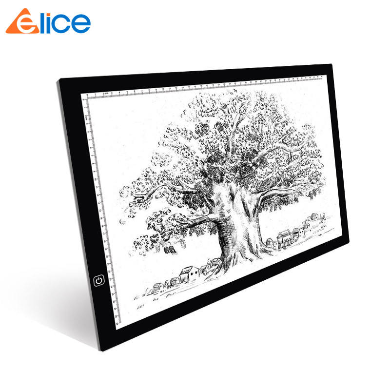 Amazon Best Ruler A3 Tracing LED Light Pad Portable Stepless Dimming Stencil Board Art Craft Drawing Table Animation Light Box