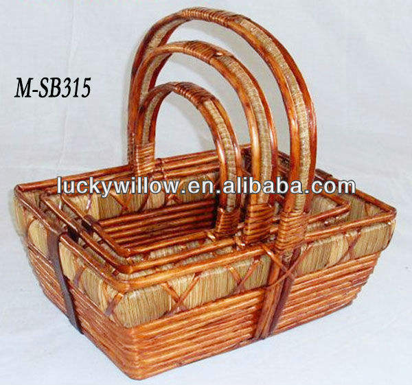 Antique willow gift basket fruit basket for traditional festival