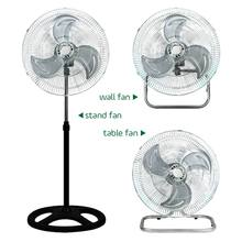 Hot sell 18 inch 3 in 1 powerful wind industrial stand fan with metal blades