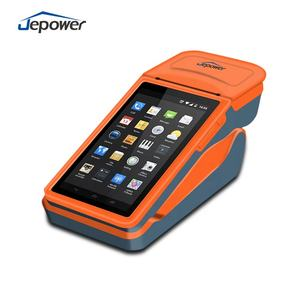 Jepower HT518PR Android Genggam POS Terminal dengan 58 Mm Printer Thermal dan Barcode Scanning Kamera