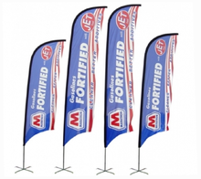 Wholesale Cheap Roadside Advertising Feather Banners With Base and Pole Outdoor Canopy Flag Custom Feather Flag