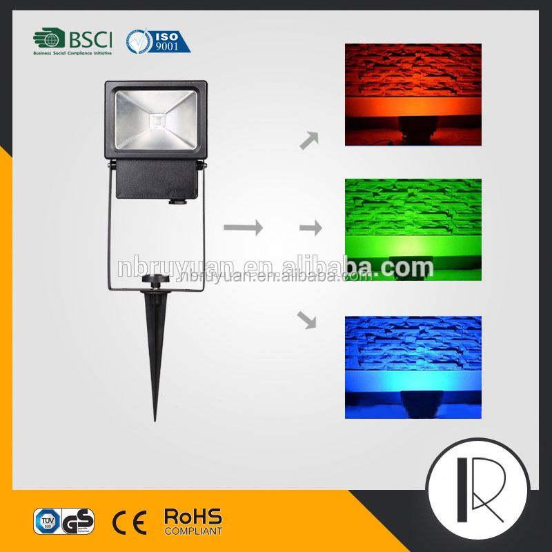 V101805 поликарбонат светодиодные прожекторы rgb портативный светодиодный открытый пластиковые прожектор