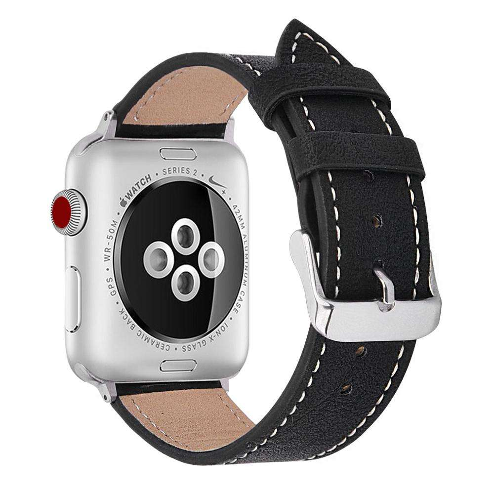 Wholesale Cheap Price PU Leather Watch Band Strap 22mm Leather Wrist Smart Band for Apple Watch Bands Series 4 38MM 40MM