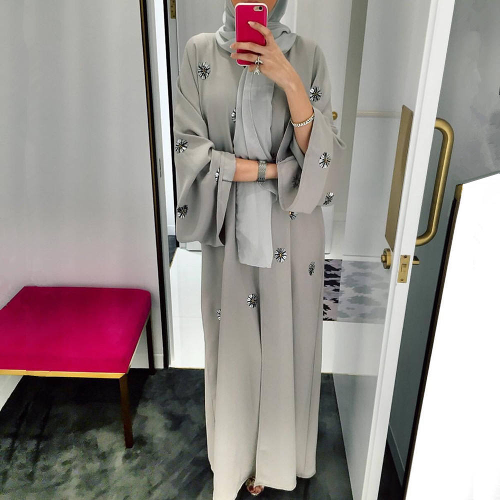 abaya dubai was thin kimono islamic abaya prayer service clothing Embroidery Muslim cardigan dress female fashion katfan