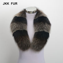 2018 New Real Fox Fur Trim Collar Winter Warm Women Fashion Style 80CM Scarf