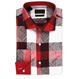 China Supplier New Fashion Wholesale Red Flannel Plaid Shirts For Men