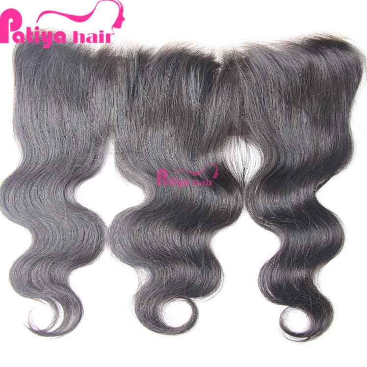 Patiya soft smooth body wave lace frontal natural hair line 13*4 Indian hair closure