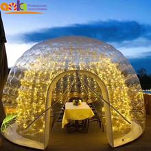 Factory Price Igloo Transparent Dome Clear Bubble Inflatable Tent With Led Light