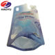 400ml plastic standing drinking table water pouches with straw inside