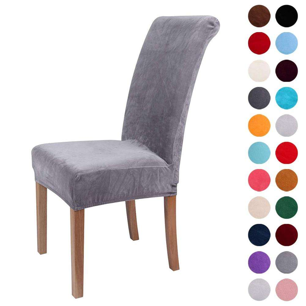 Home Decor Colorxy Velvet Spandex Fabric Stretch Dining Room Velvet Chair Cover