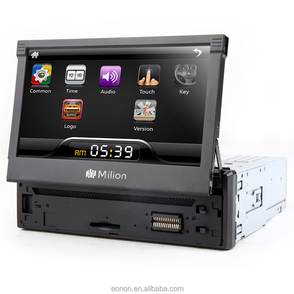 EONON D1309BV Motorizzato Car Stereo Radio 1DIN Supporto per Smart Phone e Tablet Compatibile con Bluetooth