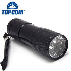Cheap Promotional Aluminum 9 LED UV Torch 395nm Small UV Flashlight