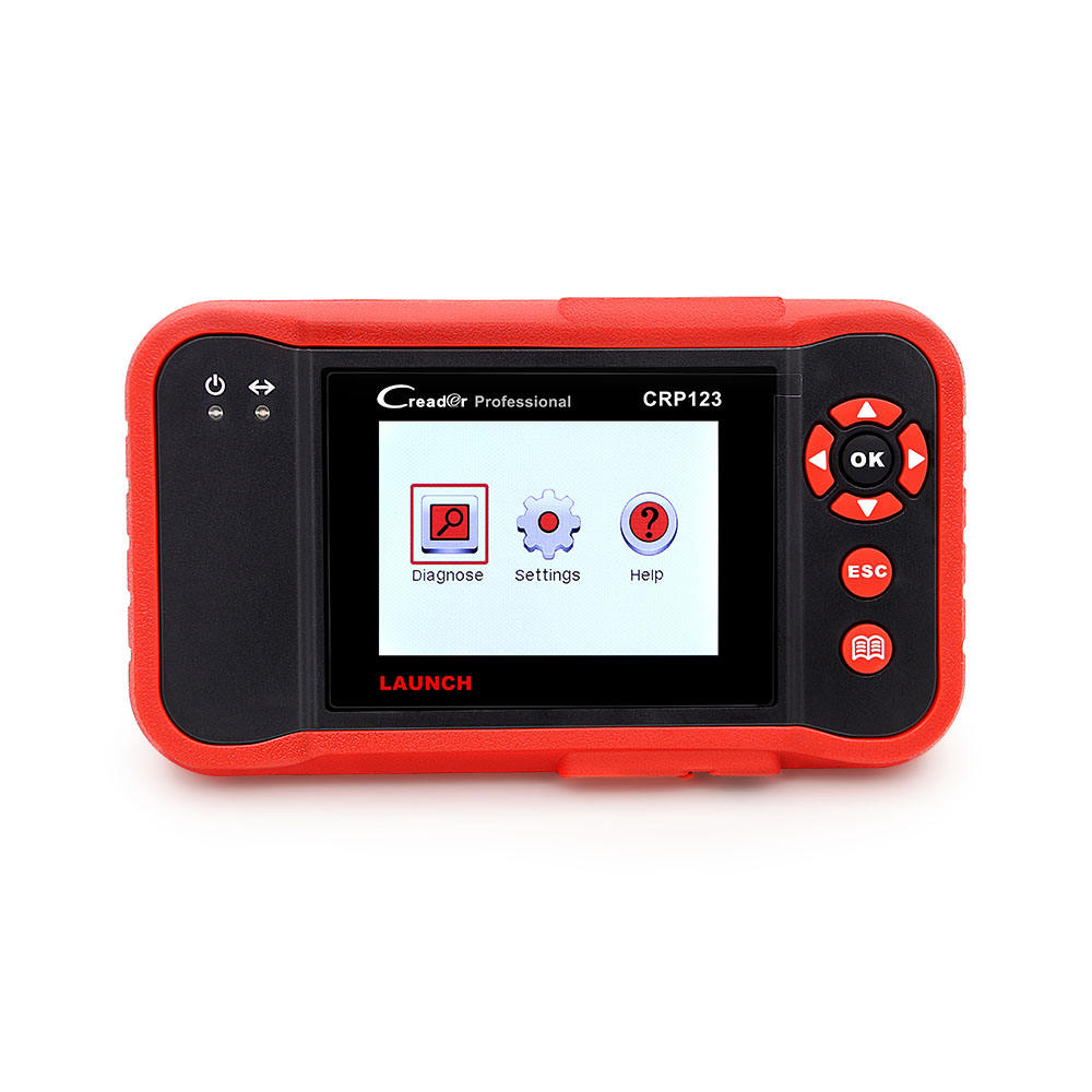 Views freeze frame data Reads live PCM data stream Launch CRP123 car diagnostic scanner