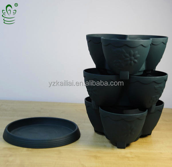 plastic plant pots stackable plastic garden flower pot