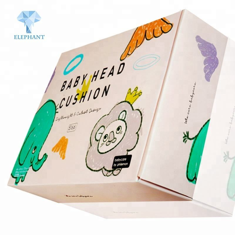 Custom color printed high quality corrugated paper baby shoe cute packaging box