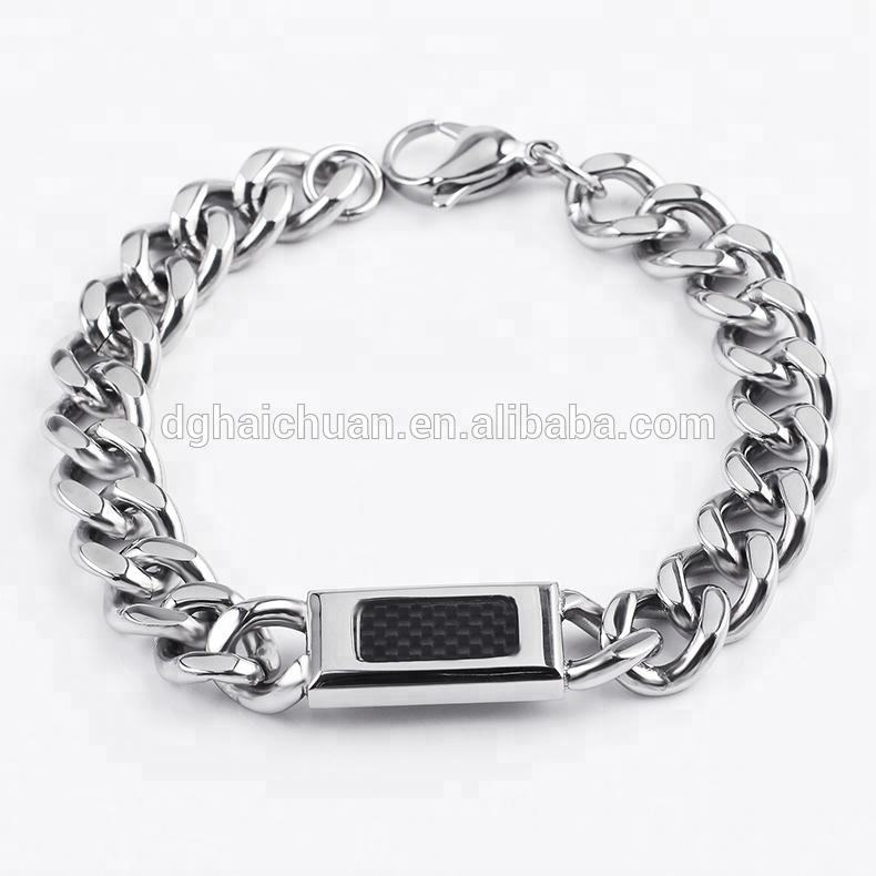 OUMI Fashion 2018 Stainless Steel silver plated chain necklace bracelet hand chain for mens