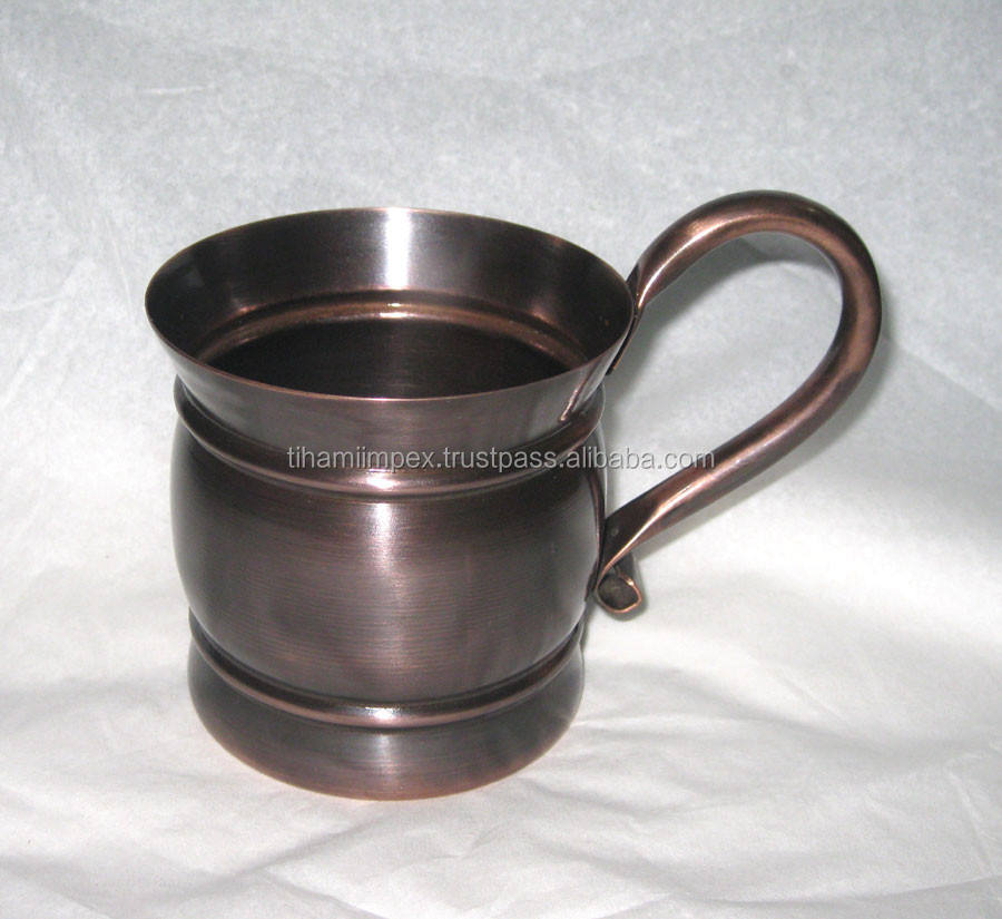 Antique Copper Mugs for Beer and Coffee