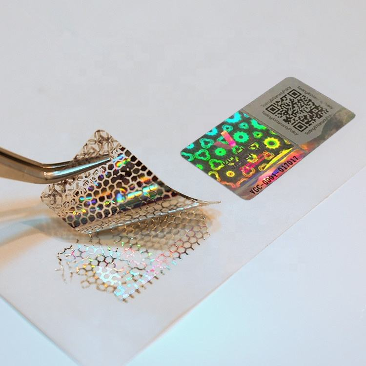 Professional supplier high quality custom hologram sticker label