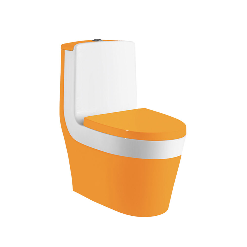 Creamic hs-8044 oranje gekleurde wc, commode wc-bril toilet
