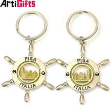 2019 Hot Sale Home Decorations Promotional Gold Custom Metal Keychain Gift
