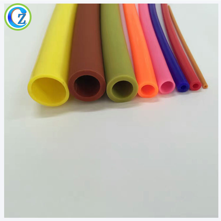 colored thin wall silicone rubber tube soft rubber tubing