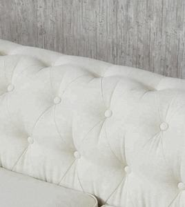 3 seat white modern fabric home furniture wedding chesterfield sofa set