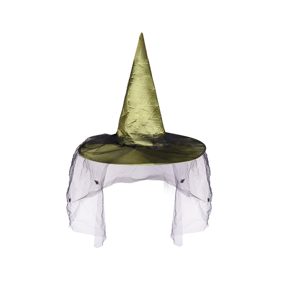 6Pcs NEW Lot Adult Womens Witch Hat Halloween Party Costume Accessory Cap Black
