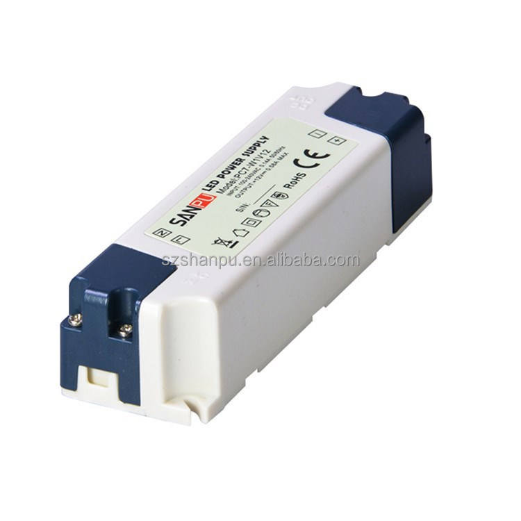 Dimmable Led Light Driver SANPU 10W LED Driver 12V Dimmable Constant Voltage Switching Power Supply 110V 220V AC DC Lighting Transformer IP44