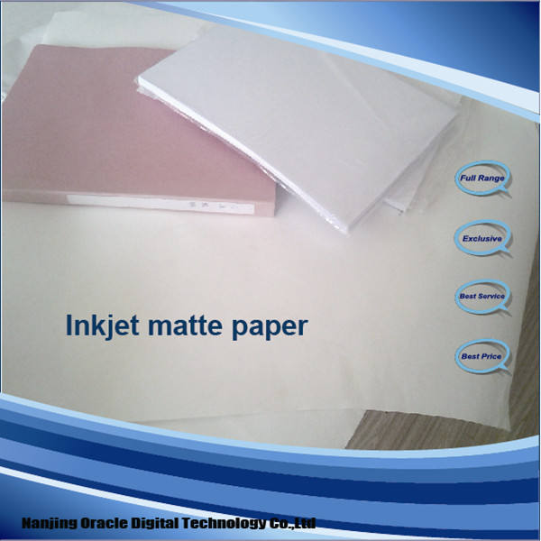 Factory supply! 108GSM Matte coated inkjet photo paper roll size/sheet size